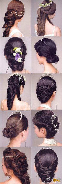 tiaras e penteados