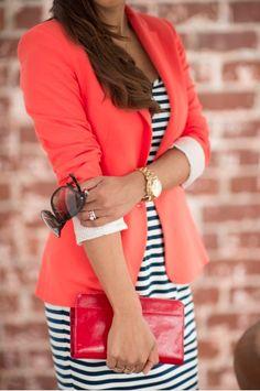 blazer vermelho