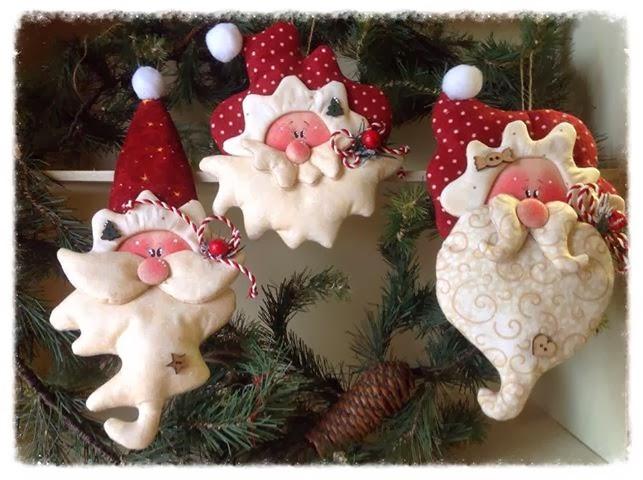 decoracao para arvore de natal pingentes de papai noel