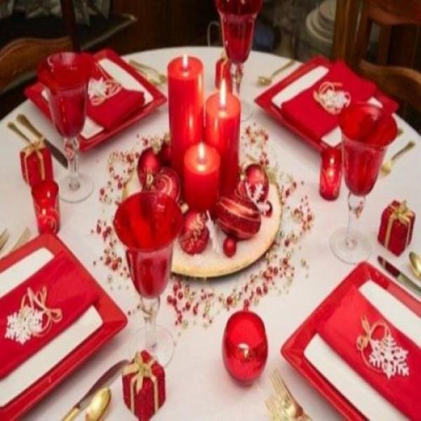 Decoração mesa natalina 1