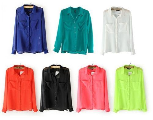 camisas femininas mangas compridas