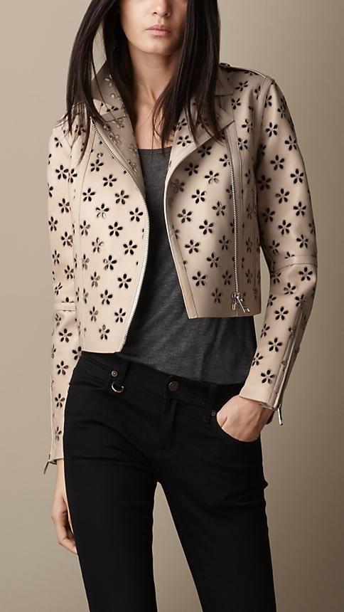 jaqueta couro florzinha