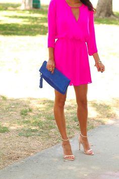 vestido curto pink