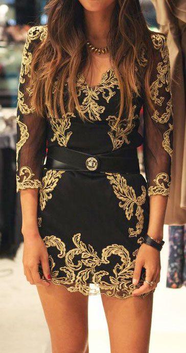 vestido curto renda