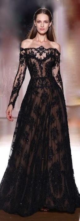 vestido renda preta